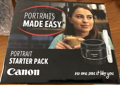 Canon EF 50mm f/1.8 STM Camera Lens Portrait Starter Pack w/ Lens Cleaner Pen