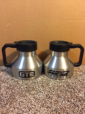 2 Lot Of Stainless Steel GTE Mug General Telephone Super Charger New