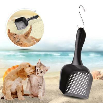 Cat Litter Scoop Metal Kitty Dog Tray Poop Sieve Pets Cleaning Shovel Random