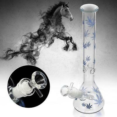 Collectible Tobacco Glass Water Pipe Bong Bubbler Hookah Rig 11""