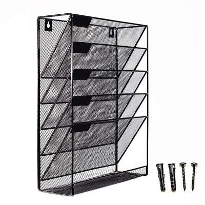 Mesh Wall Mounted Hanging Mail Document File Holder Organizer Tray - 5