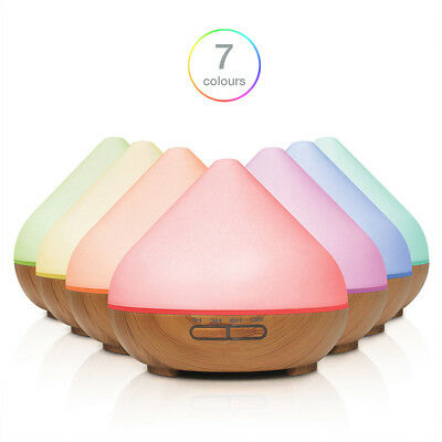 300ml Aroma Diffuser for Essential Oils with 7 Colour LED Light High Quality M