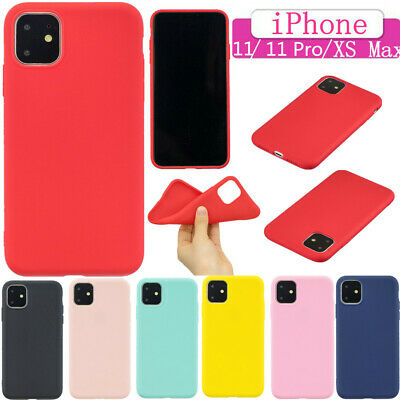 iPhone XS Max X 8 7 6 Plus Shockproof Ultra Thin TPU Rubber Soft Back Case Cover