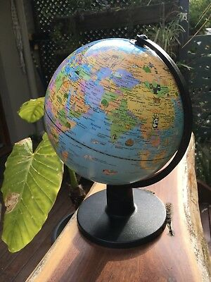 Swivel Stand World Globe for Desk Decoration Geography Education