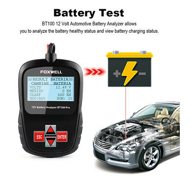 12V 1100CCA Car Battery Tester For Flooded AGM GEL Automotive Battery Analyzer