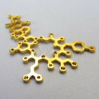 lady-muck1 Rose Gold Unique Molecule Chemistry Science Pendants Connectors