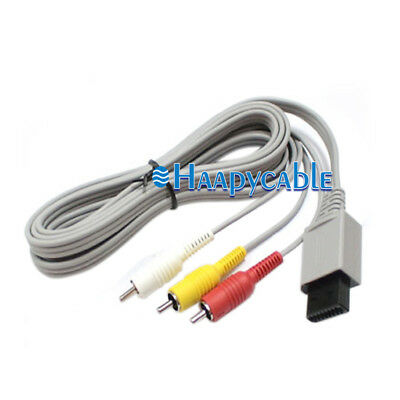 New 6FT 3 RCA Composite Transmission Audio Video Cable for Nintendo Wii GamePad