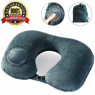 Travel Pillow, Self Inflatable Neck Pillow with Built In Air Bump, Comfortable