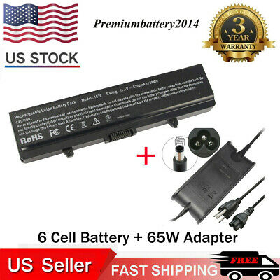 BATTERY + CHARGER for Dell Inspiron 1525 1526 1440 1545 1546 1750 GW240 X284G