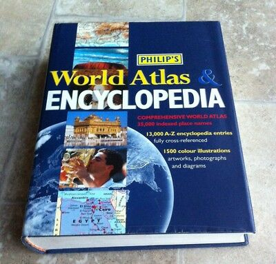 Philip's Encyclopedia and World Atlas by Octopus Publishing Group (Hardback,...