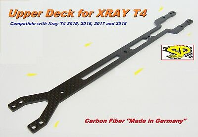 """UPPER DECK Carbon Fiber """"Made In Germany"""" 2.0MM for XRAY T4 2015/16/17 SPT4-35"""