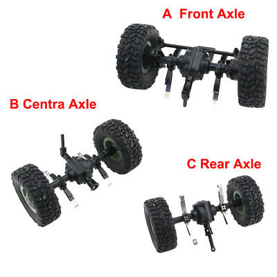 Sturdy Front/Centra/Rear Axle Assembly Spare Part For JJRC Q60 1:16 RC Military