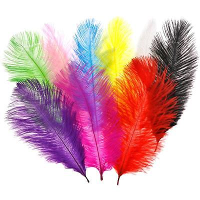 50PCS Beautiful Natural Ostrich Feathers Party Decor 10-12 inches le &H2 j
