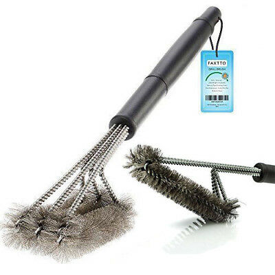 """US Barbecue Cleaner BBQ Cleaning Grill Brush 18"""" Wire Brush Tool Stainless Steel"""