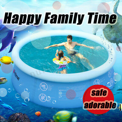 Family Inflatable Swimming Pool Indoor Outdoor Garden Playing Ground Pool 4-10Ft