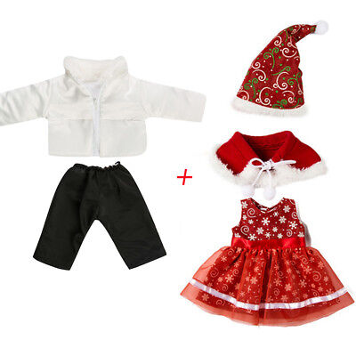 """5PC Christma Cute Clothes Jacket&Dress For American Boy Doll Accessory Girl  18"""""""