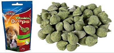 Mini Drops with Vegetables & Vitamins Small Animal Hamster Guinea Pig Rabbit 75g