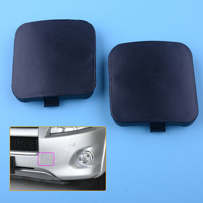 2pcs Front Left Right Bumper Tow Hook Eye Cover Cap for Toyota RAV4 2009-2012