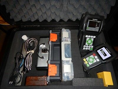 Reduced $2000 - Complete Ultrasonics Ndt Flaw Detector/thickness Gauge Kit