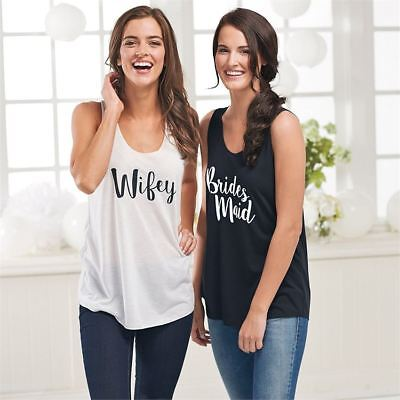 Mud Pie Wedding Bridesmaid Tank Top One Size NEW