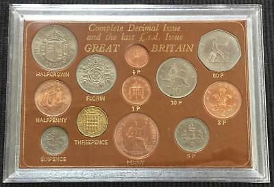Great Britain Complete Decimal Issue & Last Pound S.D. Issue Type Coin Set
