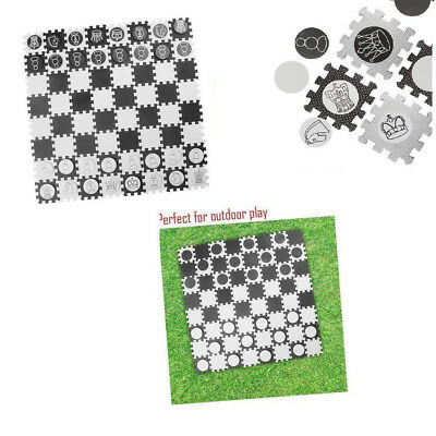 Toyland 2 in 1 Giant Draughts & Chess Play Set - Family Outdoor Games - Garden