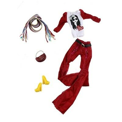 Handmade Doll Clothes Dress Outfits Costumes Shoes Sets for 30cm Dolls, #14