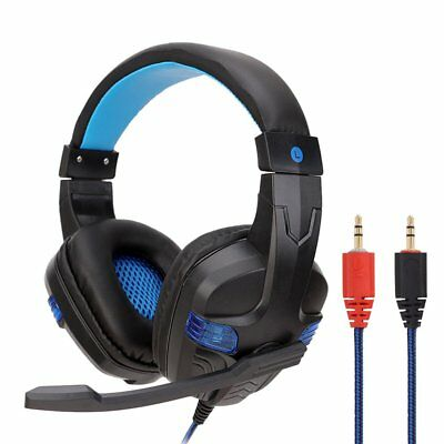 3.5mm USB Surround Stereo Gaming Headset Headband Headphone with Mic For PC ON