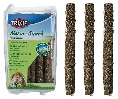 Nature Snack Sticks with Alfalfa for Small Rodents Hamster Guinea Pig Rabbit 70g