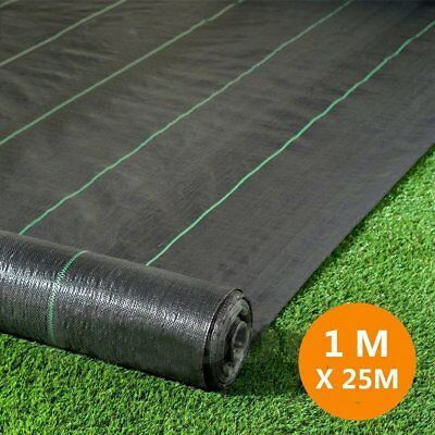 1m X 25m 100gsm Weed Control Fabric Ground Cover Garden Membrane landscape RB