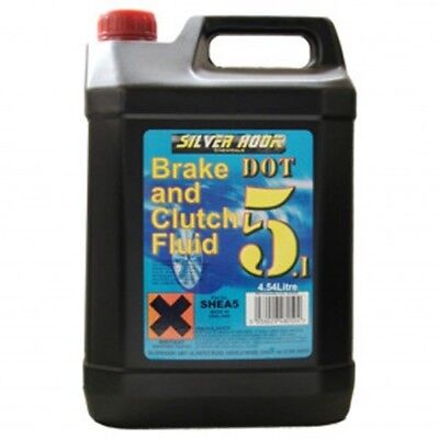 2 x DOT5.1 Brake And Clutch Fluid Fully Synthetic - 5L - 10L Silverhook