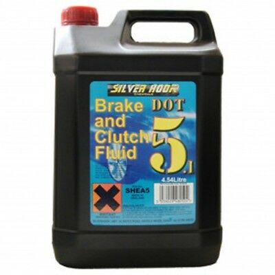 4 x DOT5.1 Brake And Clutch Fluid Fully Synthetic - 5L - 20L Silverhook