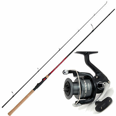 Angelset Hecht angeln Shimano Rute mit Shimano Rolle Spinnangeln Combo No2