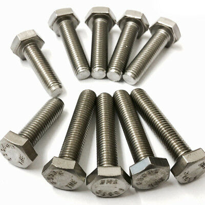 "UNF SET SCREWS A2 STAINLESS STEEL HEX HEXAGON FULLY THREADED BOLTS 5/16"" x 5/8"""
