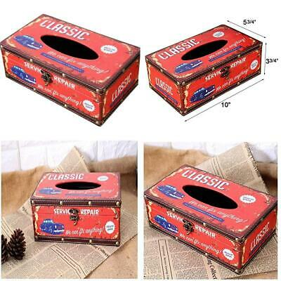 Black Pacific Soul Retro Vintage Rustic Wood Tissue Holder Box Cover Facial Tissue Paper Dispenser Anchor Design Tissue Holder Home Decor Generic AT0019QF/_2