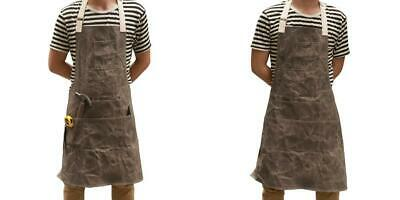 Chengsan Woodworking Apron Heavy-duty Wax Canvas 6 Pockets and Waterproof...