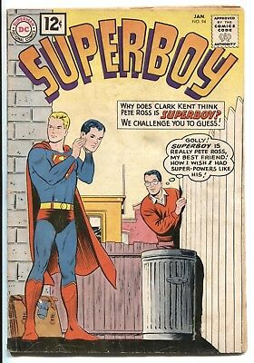 Superboy #94 Jan/1962 Dc Silver Age Comic Book ~ Gd/vg