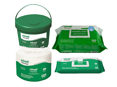 Clinell Universal Disinfectant Multi Purpose Detergent Wipes - Bucket, Refill