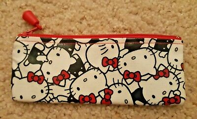 NEW Hello Kitty Zipper Pouch Travel Makeup Pencil Bag Cell Phone Sunglasses Case