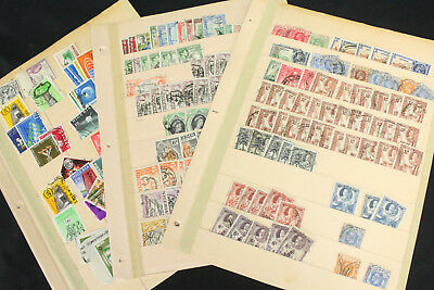 3 Old Stock Pages Lot of Nigeria Stamps Lot w/Early, KGV, Interesting Cancels++