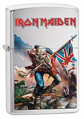 Zippo Iron Maiden Trooper Windproof Lighter - Brushed Chrome