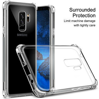 Shockproof Transparent Clear Silicone Case Cover For Samsung Galaxy Huawei OPPO