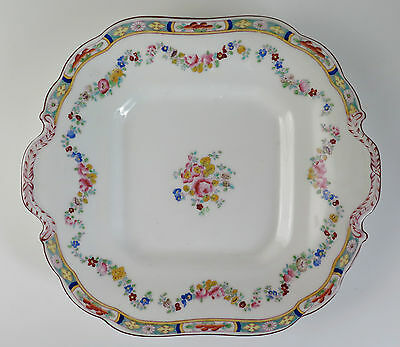 Minton porcelain 'Rose' pattern 4807. Sandwich or cake plate. 1912-1950