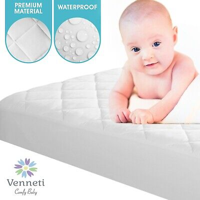 Pack N Play Mattress Protector Organic Cotton Premium Quality Waterproof Cover