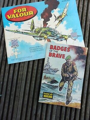 "Warlord Comics Free Gifts: ""FOR VALOUR"" & 'Badges of the Brave': (21)"