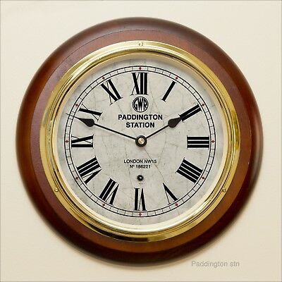 GWR Paddington Station Radio Controlled Clock. UK Only