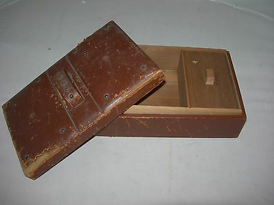 RARE Antique DUNHILL 1907 Leather Cover Humidor-Cigars-Pipe Tobacco Compartment