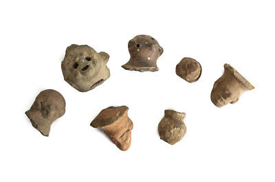 7pc Lot of Pre-Columbian Pottery Fragments, Artifacts