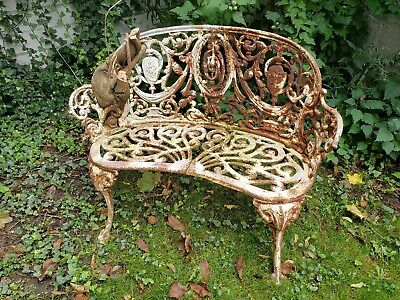 Antique  Victorian Cast Iron French Regency  Neoclassical Style  Bench