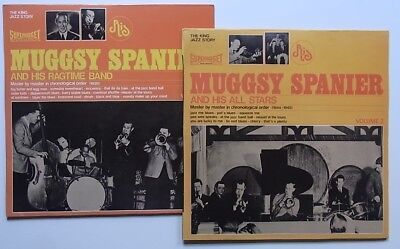 2 LPs: Muggsy Spanier And His All Stars Volume 1 + Volume 2 (Superbudget, RIS)